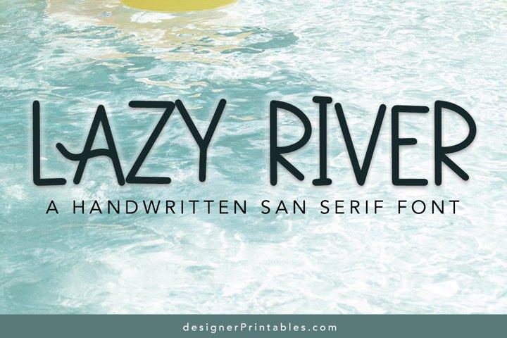 Lazy River Font
