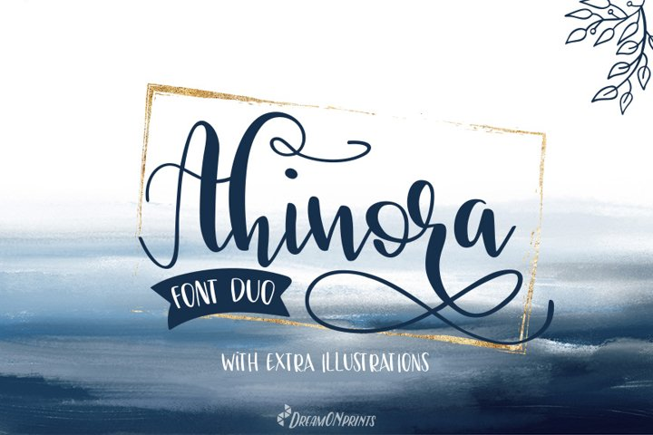 Ahinora - Font Duo with Doodles