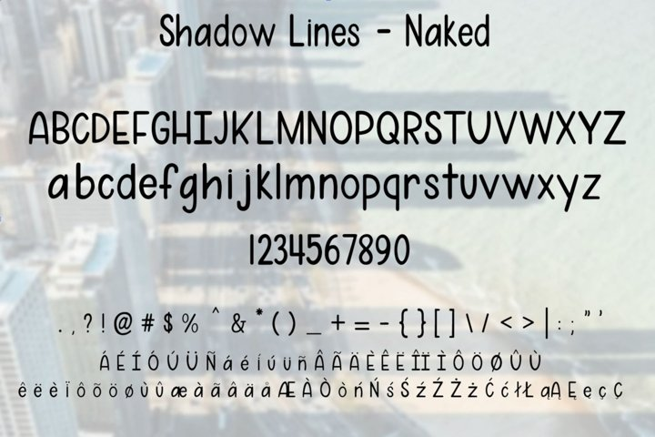 Shadow Lines - A fun font duo with and without shadow lines - Free Font of The Week Design3
