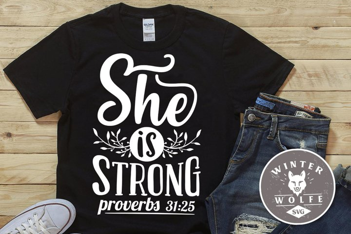 She is strong SVG EPS DXF PNG