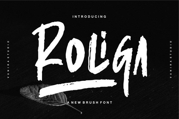Roliga | A New Brush Font