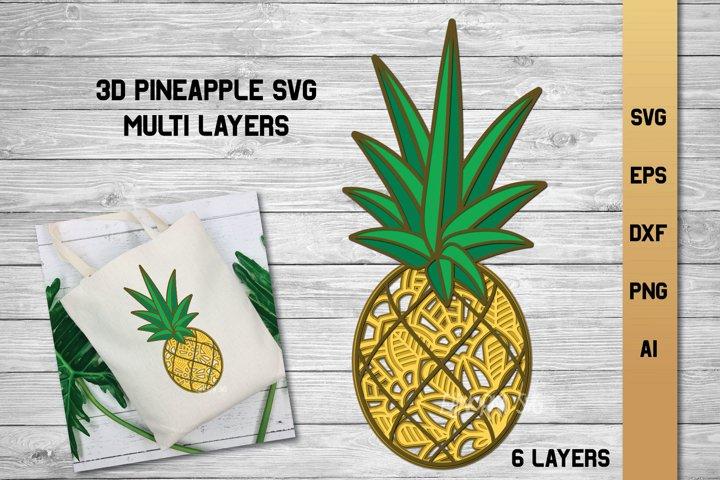 3d Layered Pineapple Svg Summer Multi Layer Svg Cut File 656526 Cut Files Design Bundles