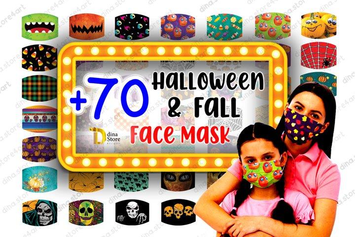 Halloween & Fall Face mask Sublimation Designs Bundle