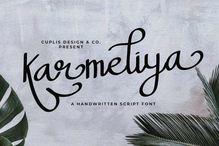 Karmeliya a Handwritten Script Font