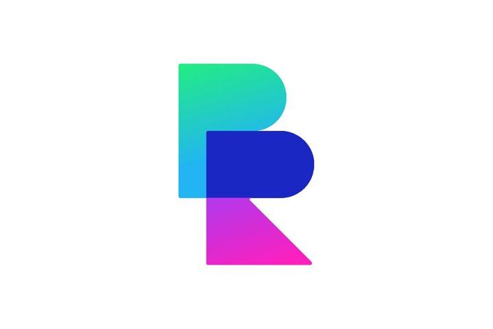 Letter BR RB Logo Design Simple Vector Elegant