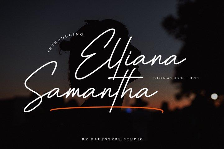 Elliana Samantha - Handwritten Font