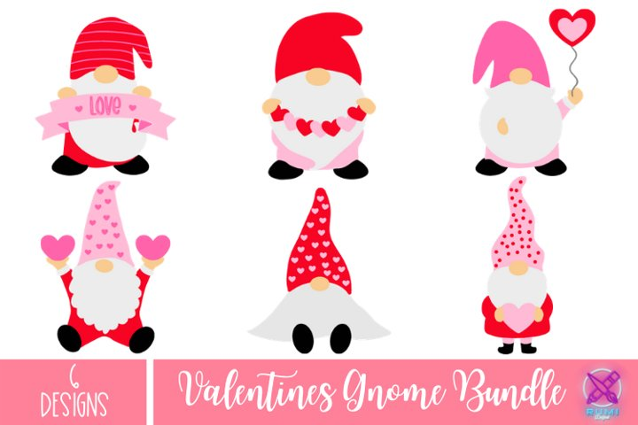 Valentines Gnome SVG Bundle, Valentines Day SVG