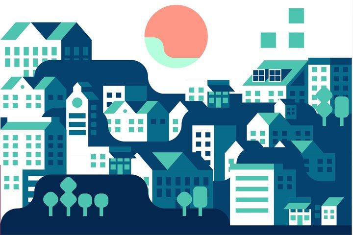 Duotone Citylandscape
