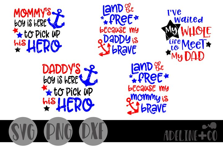 Military homecoming Bundle, SVG PNG DXF