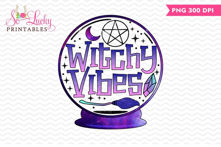 Witchy Vibes printable sublimation design
