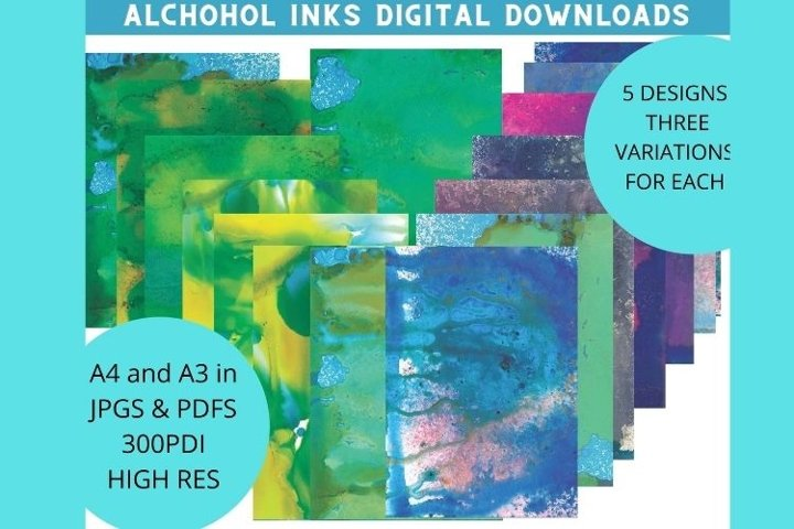 Alcohol inks -Abstract digital download