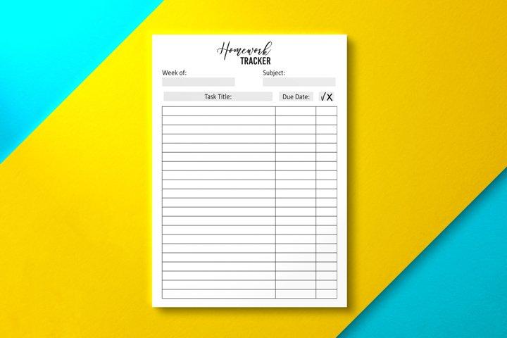 Student Homework Tracker PDF
