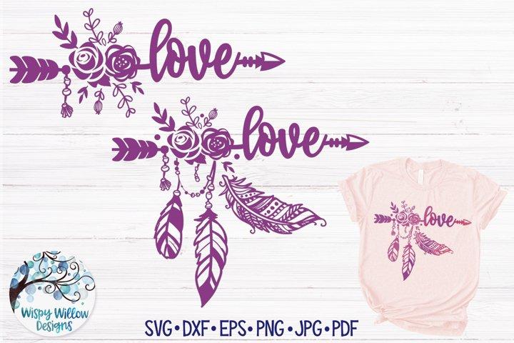 Love SVG | Boho Feather| Hippie SVG Cut File