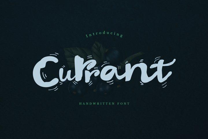 Currant Handwritten Font