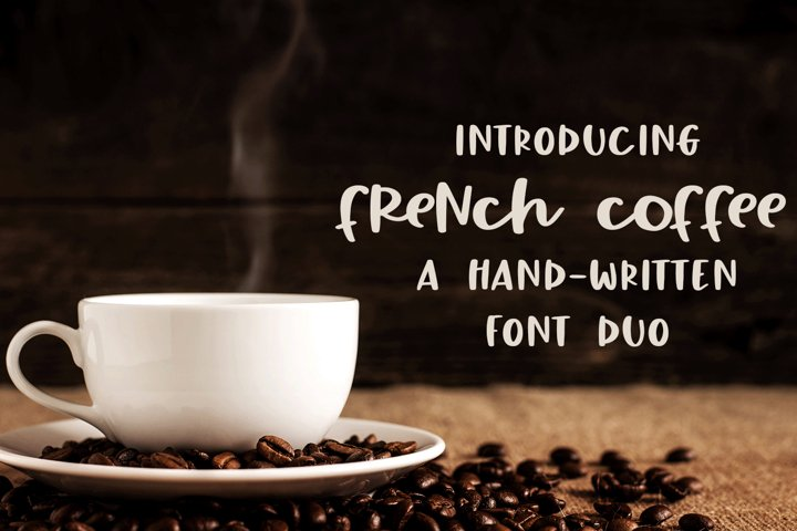 French Coffee - A Hand-Written Font Duo