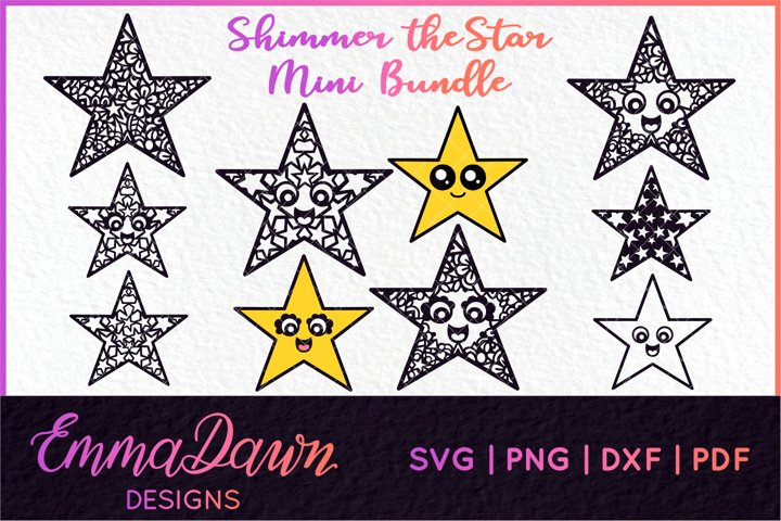 SHIMMER THE STAR SVG MINI BUNDLE 10 DESIGNS