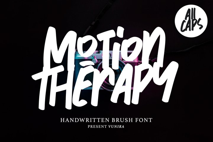Motion Therapy | Handwritten Brush Font