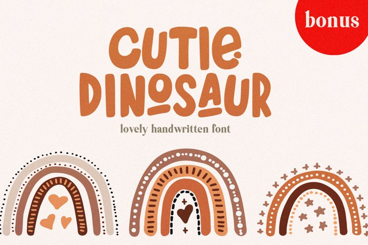 Cutie Dinosaur Font with Free Extras