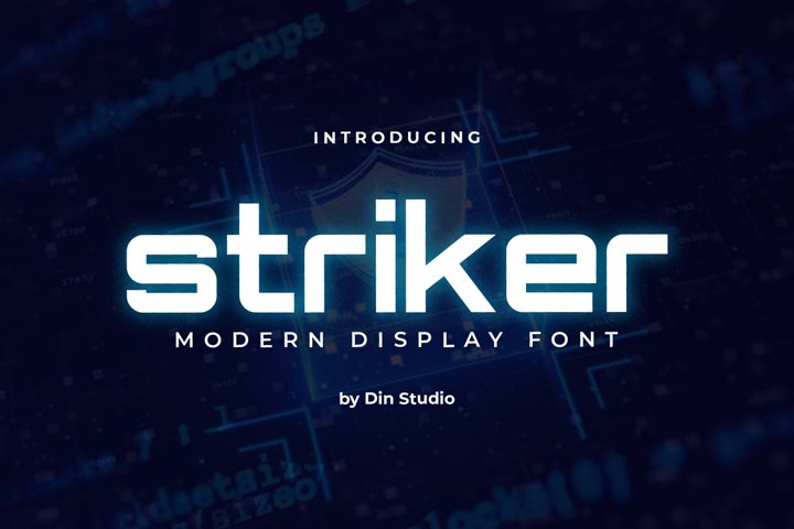 Striker-Modern Display Font