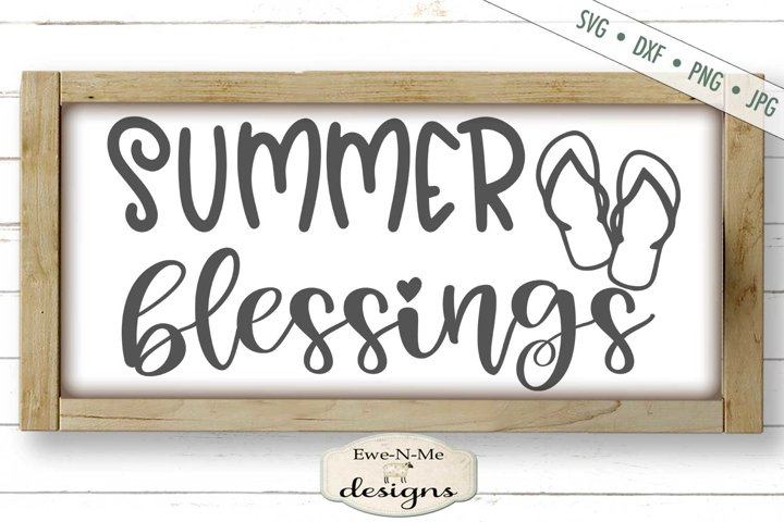 Summer Blessings | Flip Flops | SVG DXF Files