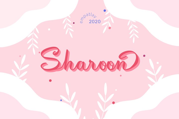Sharoon | Calligraphy Script Font
