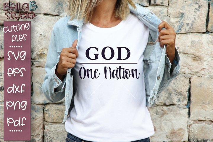 One Nation Under God SVG File, Christian SVG