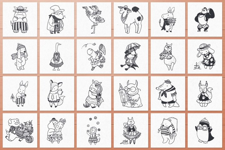 100 Hand Drawn Elements -Animals- example 4