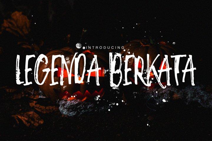 Legenda Berkata Rough Font