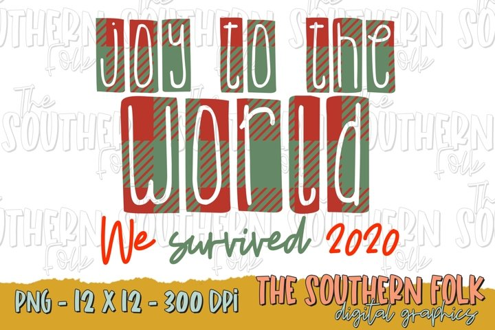 Joy to the World PNG File, Sublimation Design, Christmas