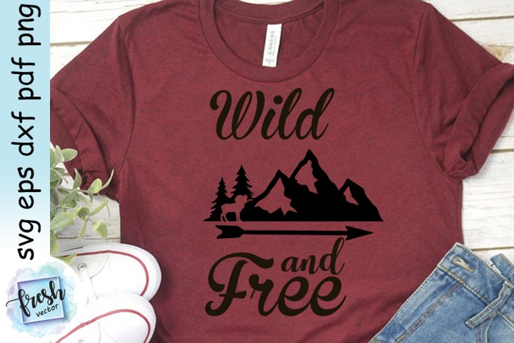 Camping SVG Wild and Free Svg Camping Quote Svg