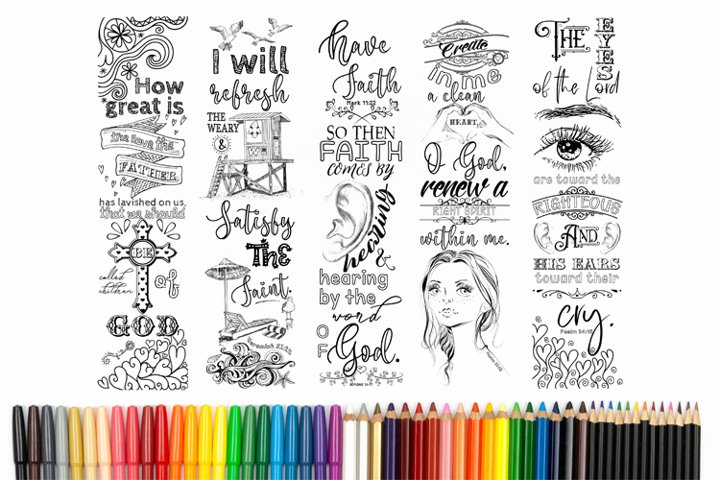 Printable Coloring Bookmarks Set #7