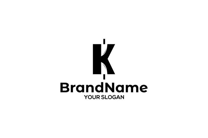 K Knife Logo Design Vector