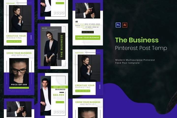 The Business | Pinterest Post Template
