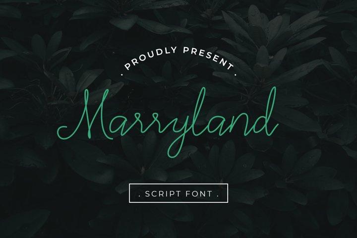 Marryland Handwritten Script Monoline