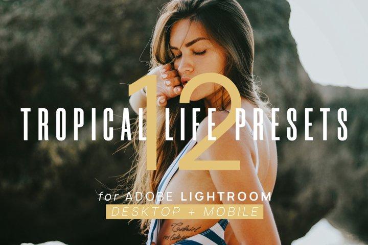 12 Tropical Life Presets for Lightroom