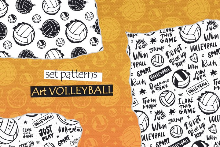 Art Volleyball. Pattern collection.