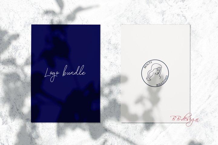 Logo templates & Business card template, feminine