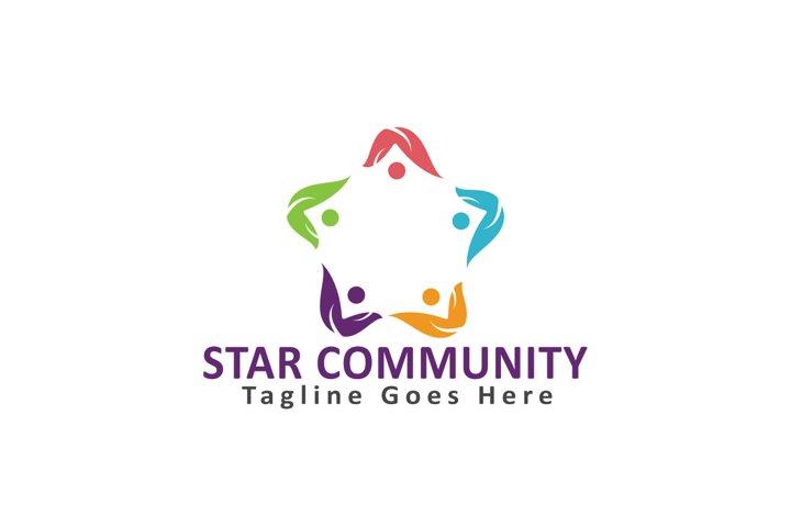 Star Community Logo Design.