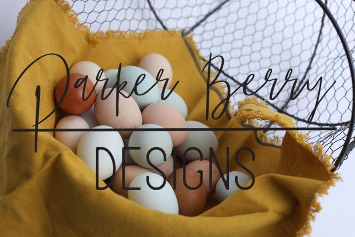 Basket of Fresh farm eggs