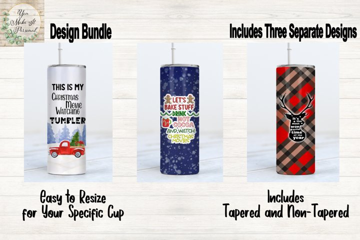 Sublimation Bundle, Holiday and Christmas Tumbler Designs