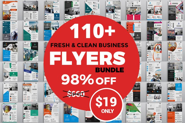 110 Clean Business Flyers