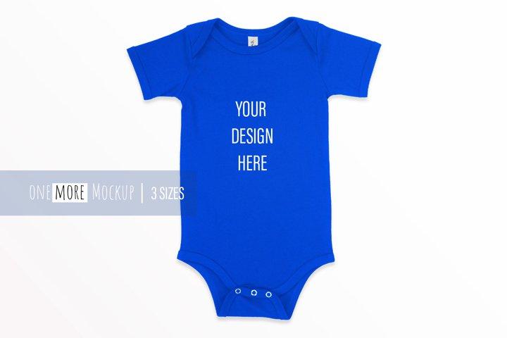 Baby Blue Bodysuit Mockup I Bella Canvas 100B True Royal