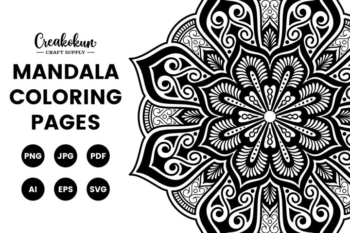 Mandala Design Illustration - Coloring Pages