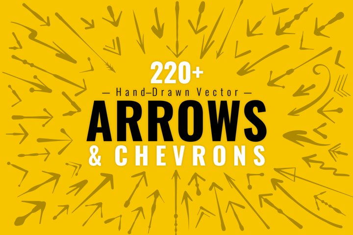 220 Hand-Drawn Vector Arrows - Fun, Decorative, and Artistic