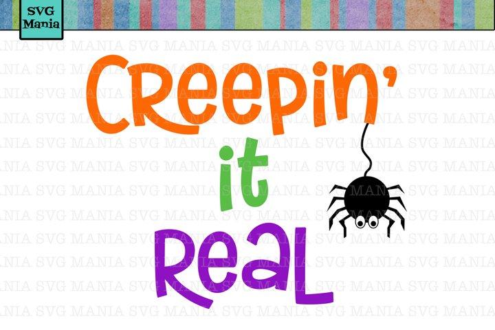 SVG Funny Halloween, Creepin It Real SVG, SVG Files Cricut