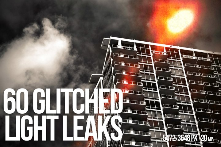 60 GLITCHED LIGHT LEAKS