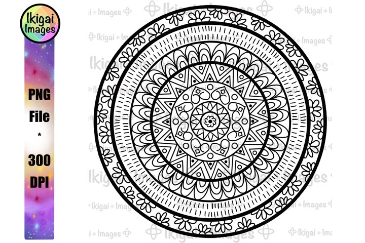 Mandala, Coloring Pages, Spiritual PNG, Meditation Line Art