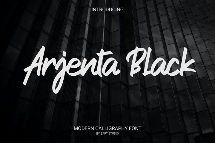Arjenta Black - Modern Calligraphy Font