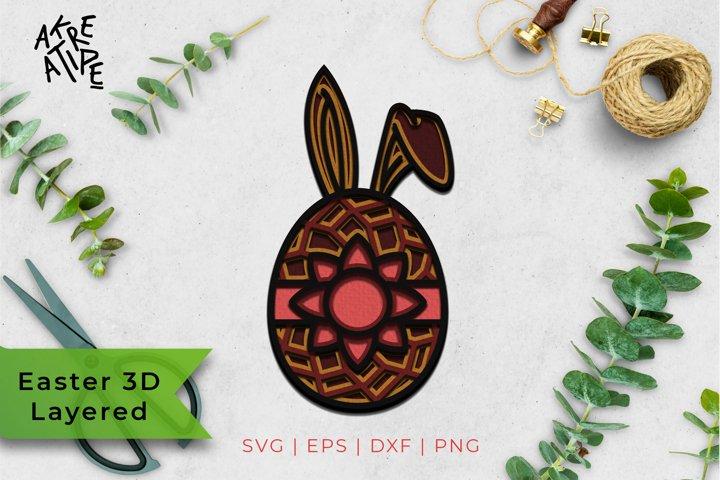 3D Layered Easter SVG | Easter SVG| Easter Egg SVG