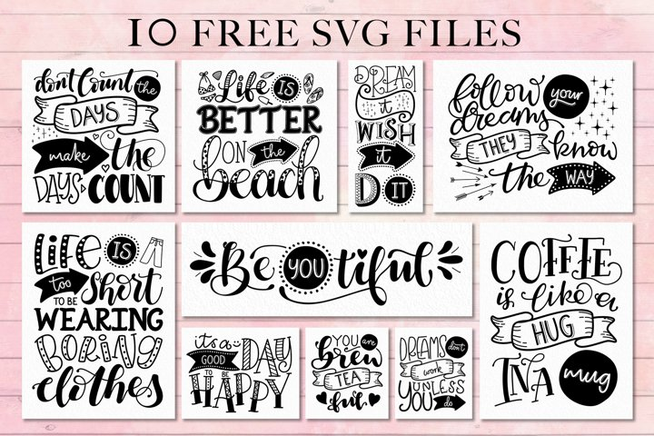 Use Your Words catchwords font with FREE SVG designs - Free Font Of The Week Design3